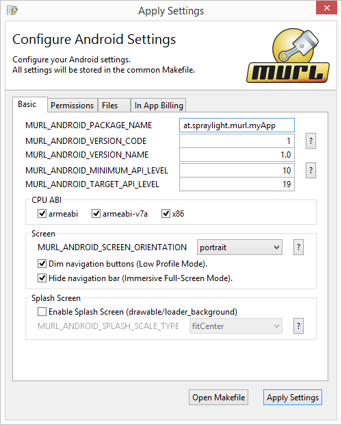 Android Configure Project