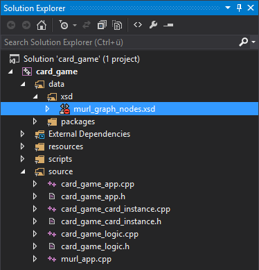 Visual Studio Solution Explorer
